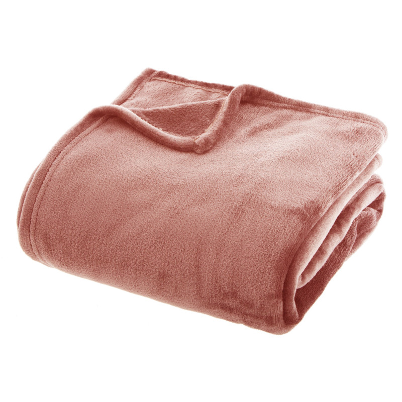 Couverture flanelle 180 x 230 cm Blush Atmosphera