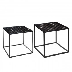 Lot de 2 tables gigognes déco Peacock Atmosphera