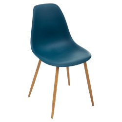 Lot de 2 chaises style scandinave Taho imitation chêne Atmosphera Navy