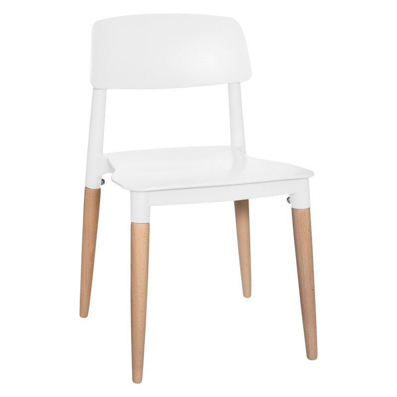 Lot de 2 chaises style scandinave design Atmosphera Blanc