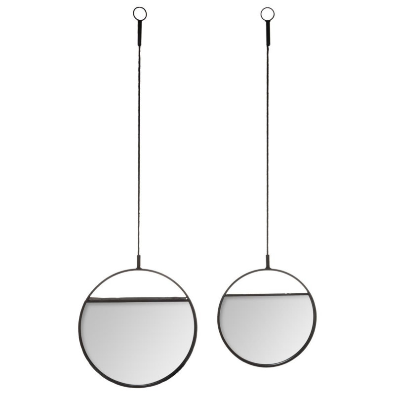 Lot de 2 miroirs ronds suspendus Atmosphera.