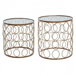 "Lot de 2 tables d'appoint ""Archi"" en métal Atmosphera"