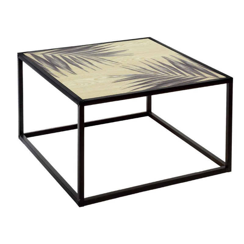 "Table basse carrée Noire ""Slow Time"" en fer Atmosphera"