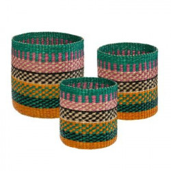 Lot de 3 paniers deco Seagrass multicolor Atmosphera