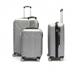 Lot de 3 Valises rigide abs Belur trolley 4 roulettes Anvers ultra léger
