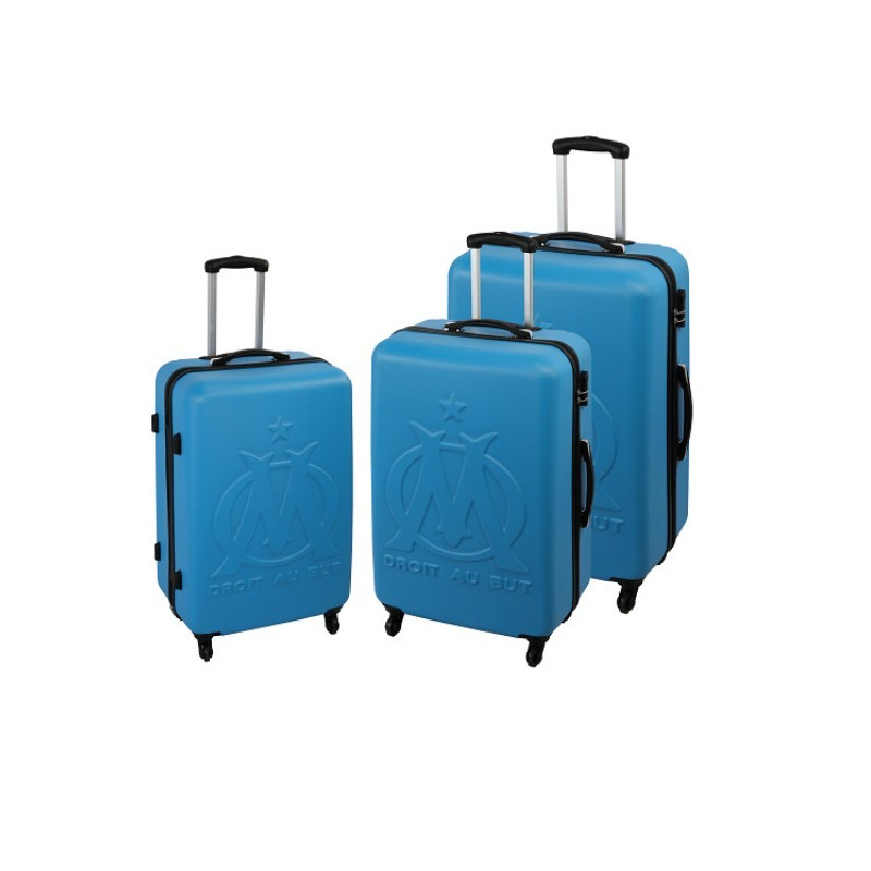 Olympique de Marseille - set de 3 Valises rigide ABS