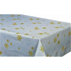 "Nappe anti tache rectangulaire ""Reveillon"" 145 x 240 cm (6 à 10 couverts)"