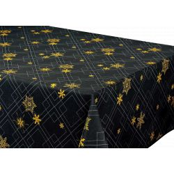 "Nappe anti tache rectangulaire ""Reveillon"" 145 x 300 cm (8 à 12 couverts)"