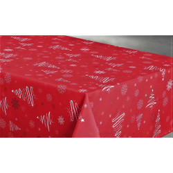 "Nappe anti tache rectangulaire ""Sapin"" 145 x 300 cm (8 à 12 couverts)"