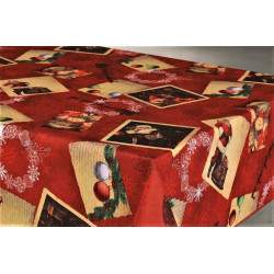 "Nappe anti tache rectangulaire ""Noel"" 145 x 300 cm (8 à 12 couverts)"