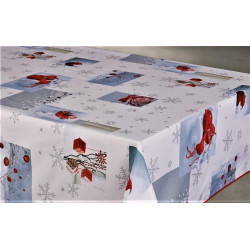 "Nappe anti tache rectangulaire ""Flocons"" 145 x 240 cm (6 à 10 couverts)"