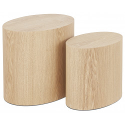 "Lot de 2 tables d'appoint ""Trunko"" en bois Kokoon"