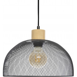 "Suspension ""Sam"" noir métal Diamètre 30 cm d'Atmosphera"