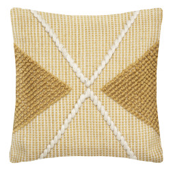 """Coussin recyclable """"Row Ocre"""" 45 x 45 cm Atmosphera"""