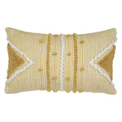 """Coussin recyclable """"Row Ocre"""" 30 x 50 cm Atmosphera"""