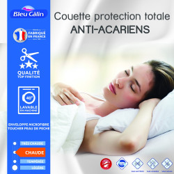 "Couette protection totale anti acariens 400 gr/m² 240 x 260 cm pour lit ""King size"""