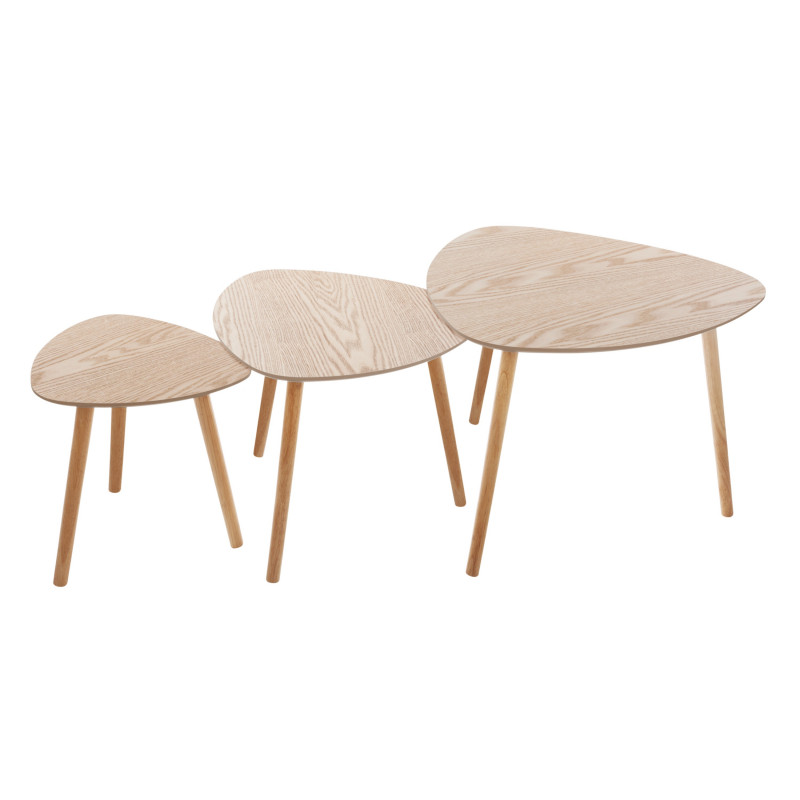 Lot de 3 tables café bois Miléo Atmosphera