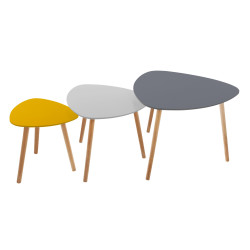 Lot de 3 tables café break Miléo Atmosphera