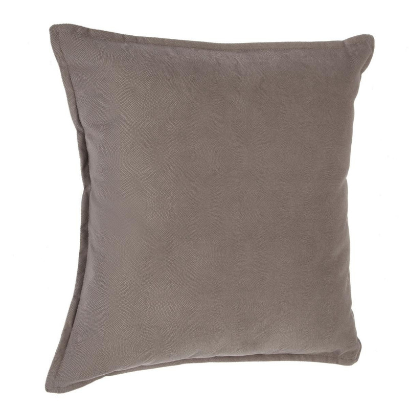 """Coussin """"Lilou"""" Effet velours taupe 45 x 45 cm"""