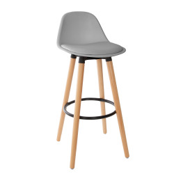 Tabouret bar déco Maxon gris Atmosphera